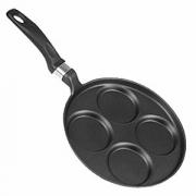 Сковорода для блинов, алюм.литой,тефлон, D=280,H=23,L=500мм, черный