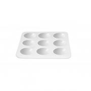 Блюдо для дегустаций «Апиари» L=10.5, B=10.5см; белый