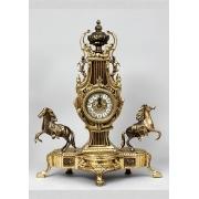 Часы с парой лошадей комбин. 54х44 см.