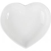 Блюдо-сердце для компл. «Кунстверк», фарфор, D=75,H=11,L=78,B=65мм, белый