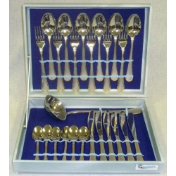 Набор из 25 предметов на 6 персон «Перла Сатинато» с золотом