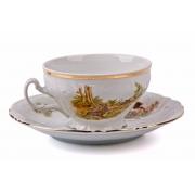 Набор для чая низкие на 6 перс. 12 пред «Бернадот Охота»