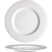 Тарелка мелкая «Уиллоу» D=23см; белый