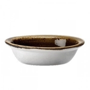 Форма для запек.овал. «Крафт», фарфор, 370мл, L=15.7см, коричнев.