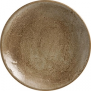Тарелка мелкая D=25.5см; коричнев.