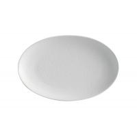 Тарелка овальная малая Икра (белая) без индивидуальной упаковки.
