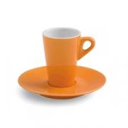 Чашка коф.с блюдцем; фарфор; 70мл; оранжев.