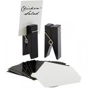 Держатель для карточек «Прищепка» [2шт] H=10, B=4см; черный