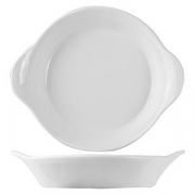 Сковорода порц. «Кунстверк», фарфор, 142мл, D=130,H=20,L=155мм, белый