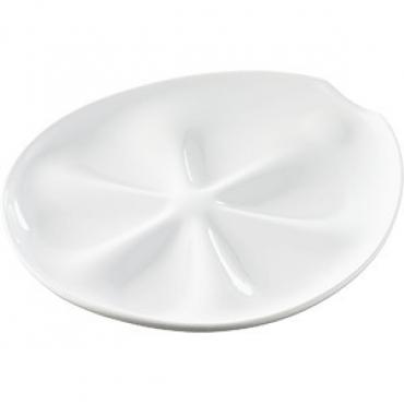 Блюдо для устриц H=3, L=26, B=24см; белый