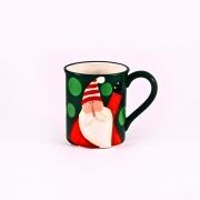 Кружка 490мл. «Рождественская полька» (зеленая)