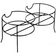 Подставка для 2-х емкостей с краном металл