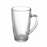 Кружка «Капучино», стекло, 420мл, D=78,H=138,L=110мм, прозр.