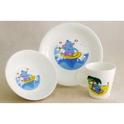 Детский набор посуды из 3-х предметов «Слоник»