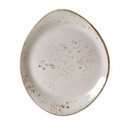 Тарелка мелкая «Крафт», фарфор, D=25.5см, белый