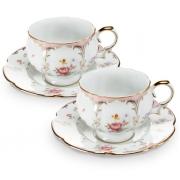 Пара чайная,1 перс 2 пр Розовый орнамент