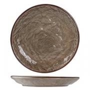 Тарелка мелкая «Кунстверк», керамика, D=180,H=25мм, зелен.,коричнев.