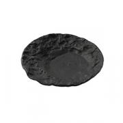 Тарелка «Кратер» D=23см; черный, матовый