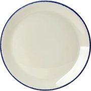 Тарелка мелкая «Блю дэппл» D=28, H=2см; белый, синий