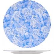 Тарелка мелкая D=29см; белый, голуб.