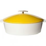 Утятница с крышкой H=16, L=32.5, B=26.5см; желт.
