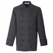 Куртка поварская,р.54 без пуклей, полиэстер,хлопок, черный