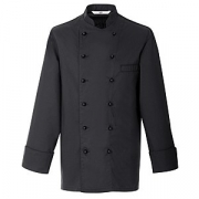 Куртка поварская,р.44 без пуклей, полиэстер,хлопок, черный