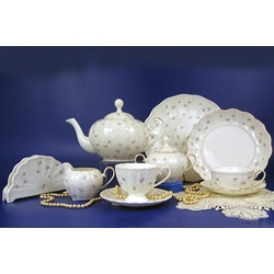 Н 1040011 Вуаль сервиз чайный 12/42 (золотая лента)