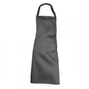 Фартук с грудкой и карманом, хлопок, L=93,B=57см, черный