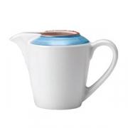 Молочник «Рио Блю»; фарфор; 142мл; белый,синий