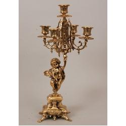 Пара канделябров «Ангел» 5 свечей 44х20см.