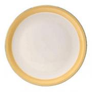 Блюдо для пиццы «Рио Еллоу», фарфор, D=31см, белый,желт.