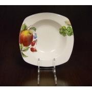 Набор 6 тарелок суповых квадратных 19,5см «Фрукты айвори»