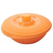 Контейнер 2,2 л для фруктов с крышкой силиконовый оранжевый