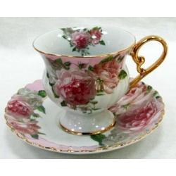 Чашка с блюдцем «Розовая роза» 0.2 л