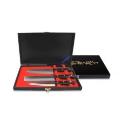 Набор из трех ножей FG-8300 Сантоку 170мм, Овощной нож 165мм, Универсальный нож 140мм