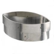 Форма конд. «Овал», сталь нерж., L=82,B=43мм