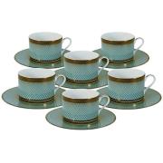 Чайный набор Бирюза: 6 чашек + 6 блюдец