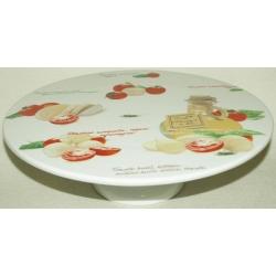 Блюдо на ножке «Помидоры и моцарелла» 30 см