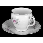 Набор для чая на 6 перс. 12 пред. выс. «Роза серая платина 5396021»