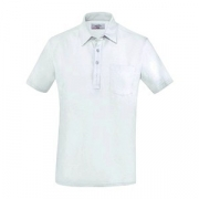 Рубашка поло мужская,размер M, хлопок,эластан, белый