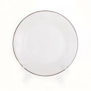 Набор тарелок «Лиззард Платин» 22 см. 6 шт. глубокое