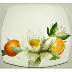 Обеденная тарелка «Апельсины и кувшинки» 27 см