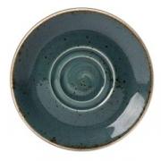 Блюдце «Крафт»; фарфор; D=16.5см; синий