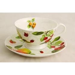 Чашка с блюдцем «Фруктовый сад» 0,2 л