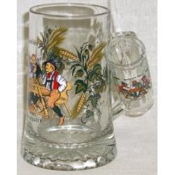 Пивная кружка стеклянная с рюмкой «Застолье», 0.5 л
