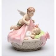 Статуэтка 8,3 см Ангел с девочкой