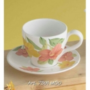 Чашка чайная с блюдцем 13 см