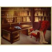 Кабинет Шерлока Холмса, 30х40 см, 1034 кристаллов