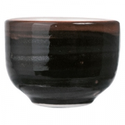 Стопка для саке «Кото», фарфор, 50мл, D=50,H=35мм, черный,коричнев.